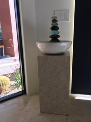 Golden Travertine Pedestal