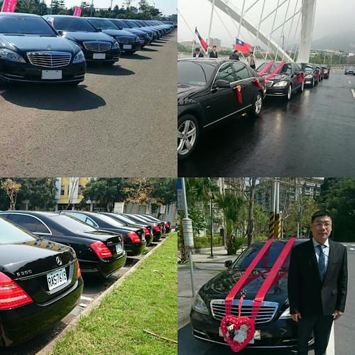 20161112結婚禮車~永和-新竹迎娶,賓士W221 S-500禮車1台,任務圓滿完成