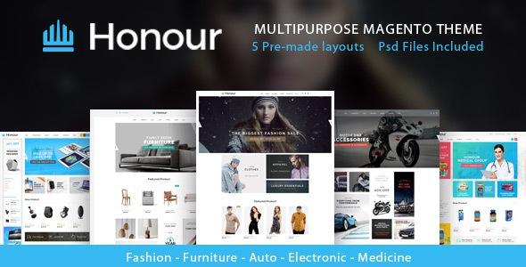 Honour v1.0.0 - Multipurpose Responsive Magento2 Theme | Fashion Furniture Auto & Electronics & Medicine