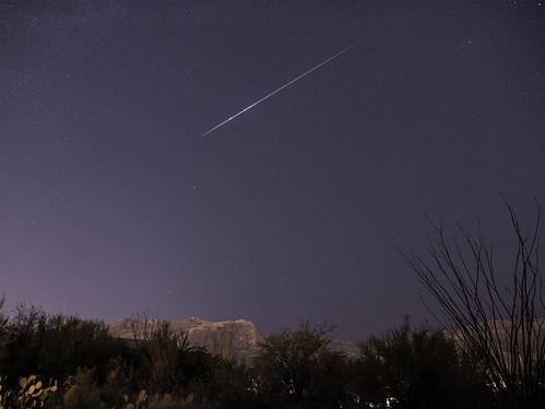 Ursid Meteor Fireball Over Tucson AZ Foothills