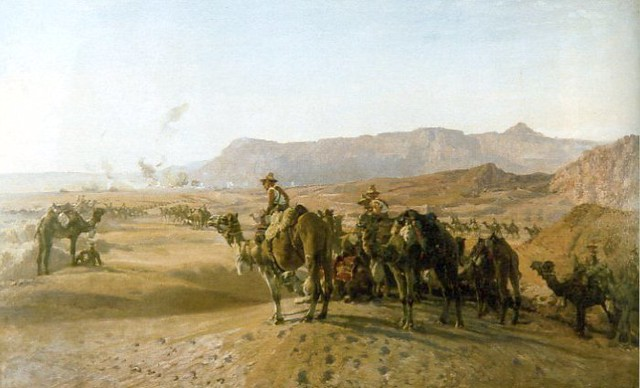 Camel Corps at Maghdaba by H.S. Power