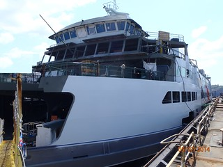 Painting the M/V Samish