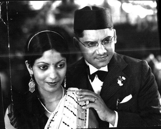 "Master Vinayak and Leela Chitnis in 'Chaaya' (""Holy Crime"") 1936"