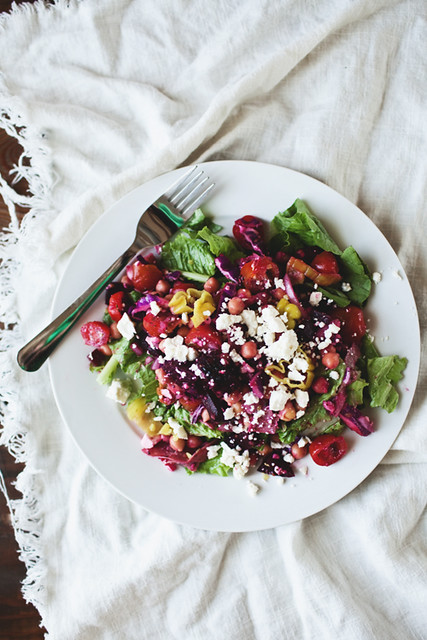 Italian Chopped Salad // The Little Red House