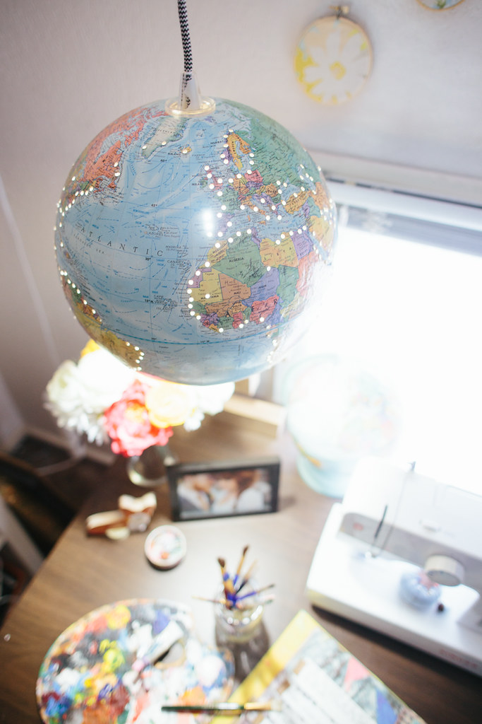 Diy Globe Hanging Light The Brave Life