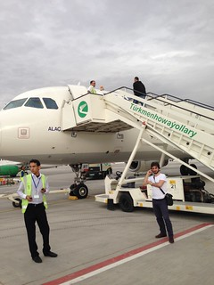 Boarding A Flight in Ashgabat