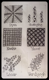 Zentangle® : Tangle Pattern : Practice Page