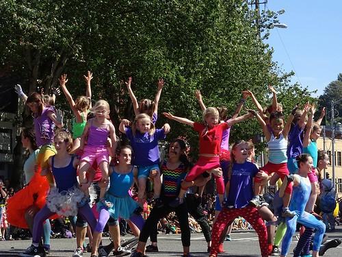 Kids at Solstice parade