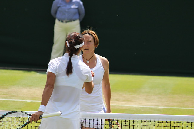 Li Na and Yvonne Meusberger