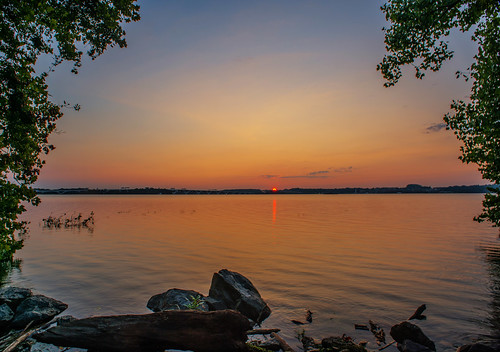 Potomac Sunset Rouge HDR by Geoff Livingston