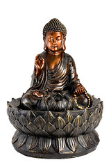 Bronze fountain Buddha