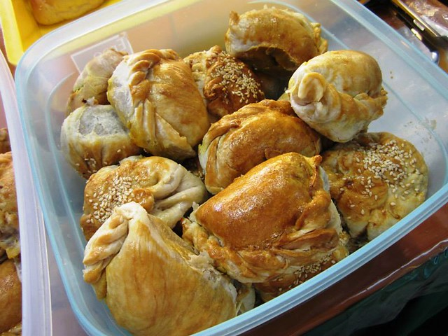 Homemade curry puffs & sio pao