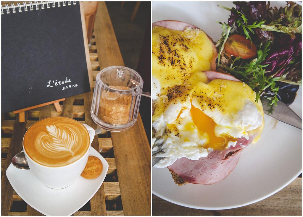 L'Etoile Cafe's coffee & Eggs Benedict