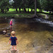Playing in the creek at Irons Park