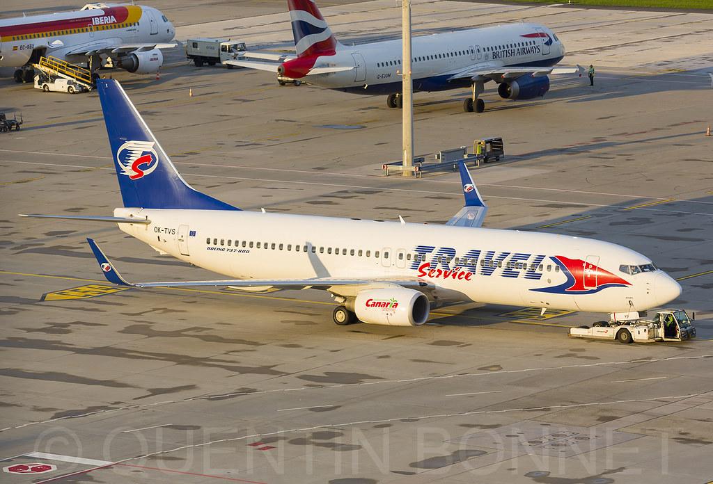 Travel Service Boeing 737-86N(WL) OK-TVS