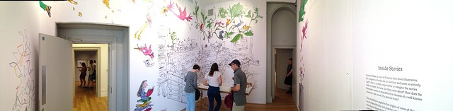 Opening room of Quentin Blake illustration exhibition