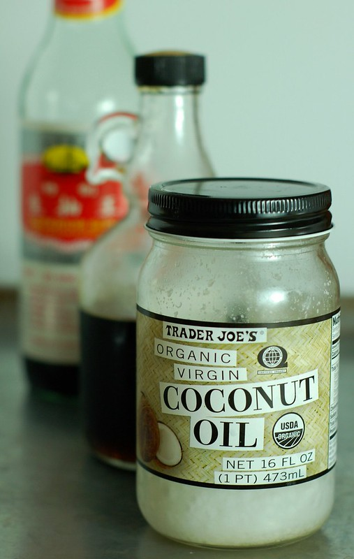 Coconut oil, maple syrup & soy sauce by Eve Fox, The Garden of Eating, copyright 2014