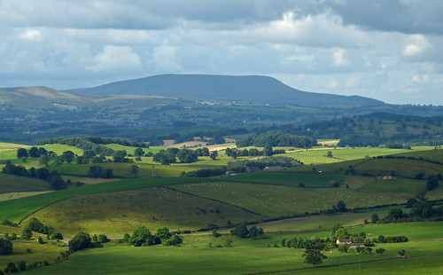 Pendle Hill Across The Aire Valley