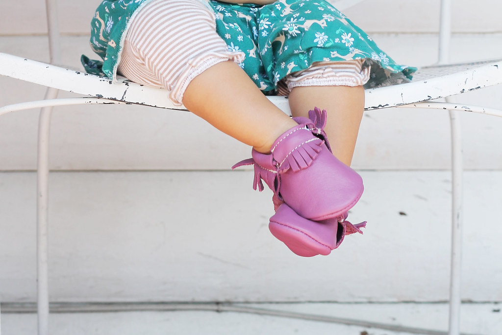 freshly picked moccs in radiant orchid