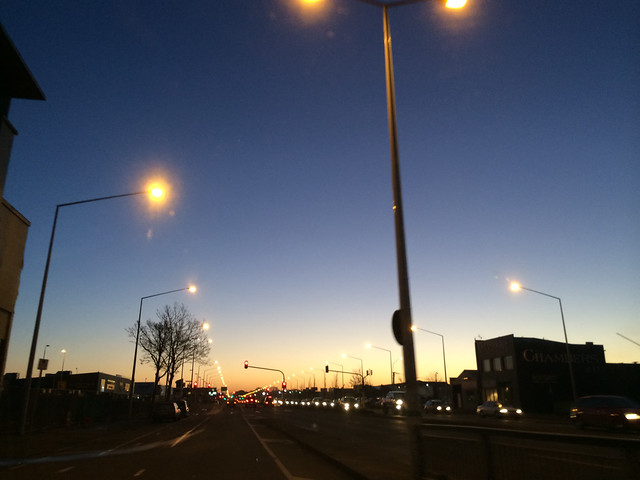 Sunset in Christchurch