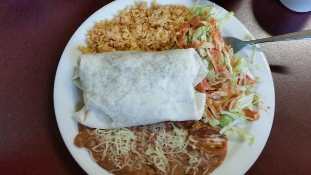 Burrito mini dinner by Dennis & Cassie