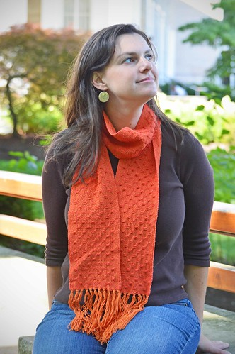 Spot Lace Woven Scarf