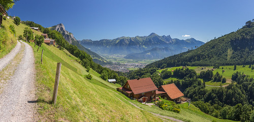 summer panorama alps switzerland holidays hiking swiss stgallen mels alpinepassroute viaalpina