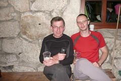 Michał i ja przed schroniskiem w Dolinie 5 Stawów