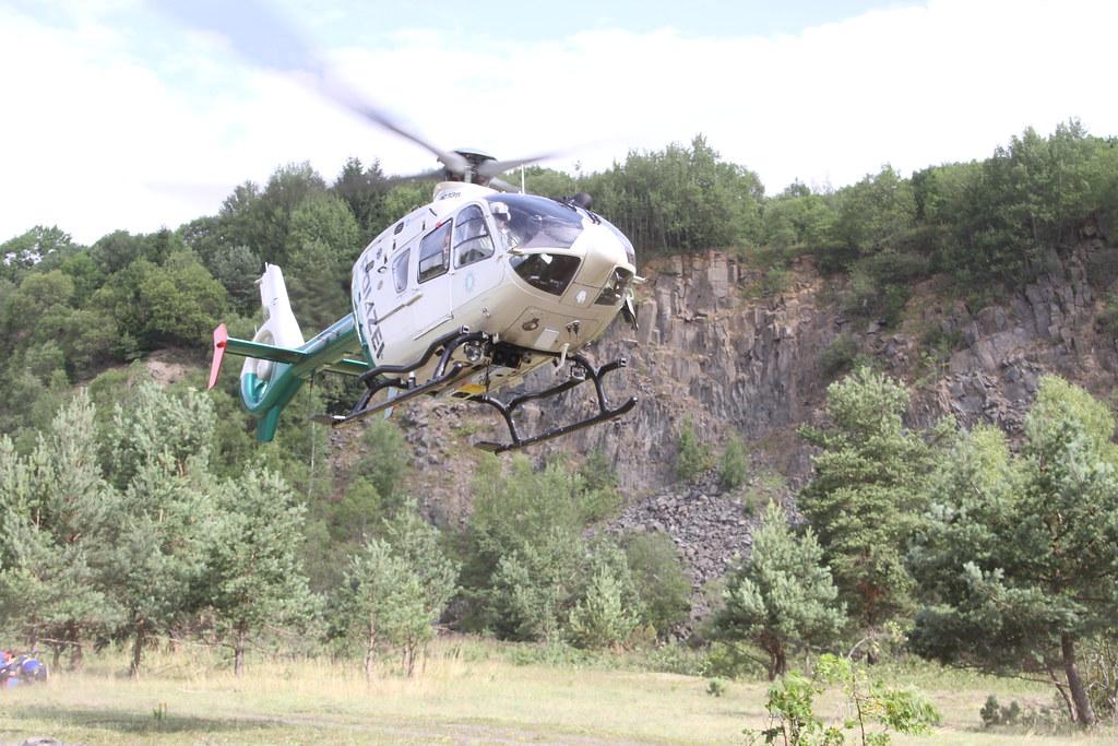 Bergwacht Luftrettungsübung PHuStBy