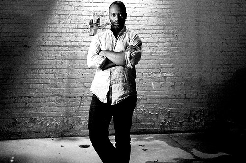 Theaster Gates portrait is part of VISIONS Across America exhibit (photo by Jim Heemstra)