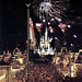 Main Street USA fireworks at the Magic Kingdom, 1975