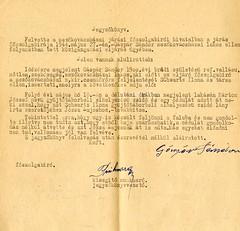 VI/7.e. Gáspár Sándor, reformárus szabósegéd továbbította Schwartz Ilona gyűjtőtáborbeli elhelyezésű zsidó lány levelét