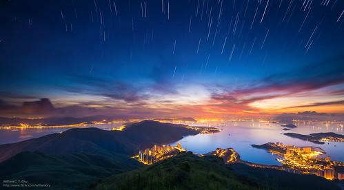 sunrise hongkong dawn cityscape hiking discoverybay startrails lantauisland lantau tigerhead lofutau