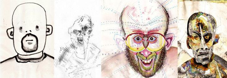 Bryan Lewis Saunders drugs in art