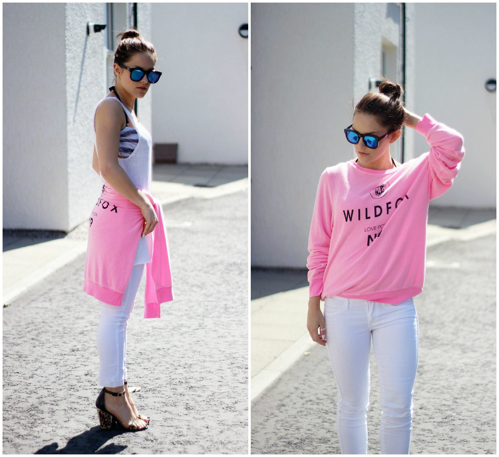 Wildfox pink oversized sweater