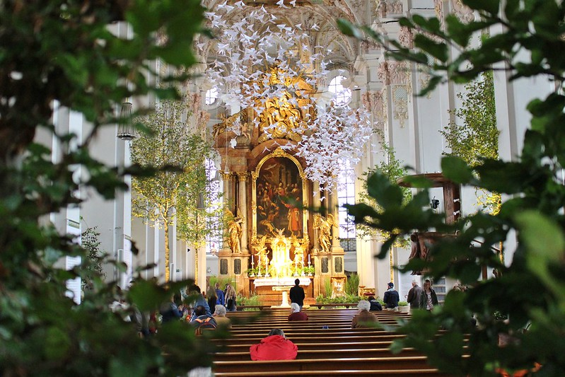Forest in a church