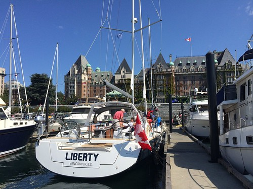 Liberty in downtown Victoria