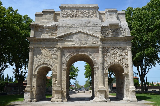 Triumphal Arch of Orange, built during the reign of Augustus on the Via Agrippa to Lyon, Arausio
