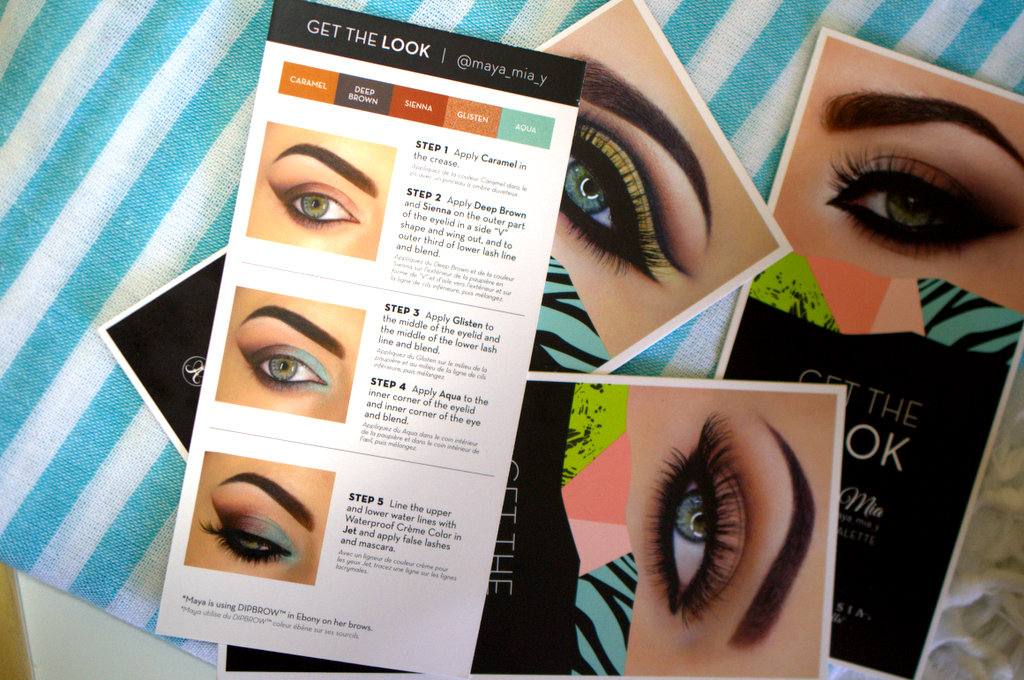 Anastasia Beverly Hills Maya Mia Get the Look cards