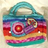 Colored Crochet Purse