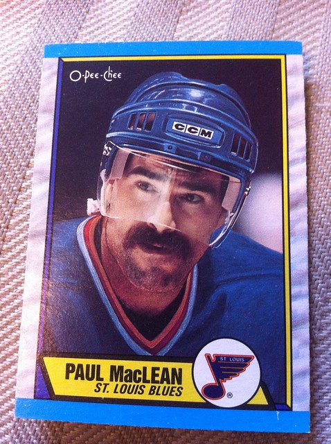"""Paul MacLean"" #hockey #blues #moustache"