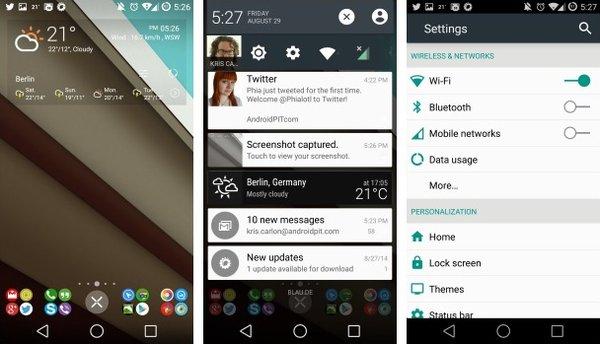 Тема Android L