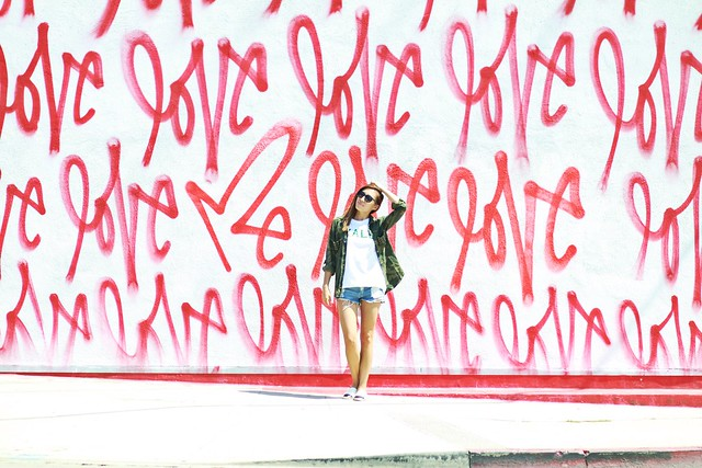 lucky magazine contributor,fashion blogger,lovefashionlivelife,joann doan,style blogger,stylist,what i wore,my style,fashion diaries,outfit,love me wall,love wall culver city,kale,love me graffiti,curtis kulig,street art,street style,suburban riot,dietch pr,chanel,chanel espadrilles,los angeles art