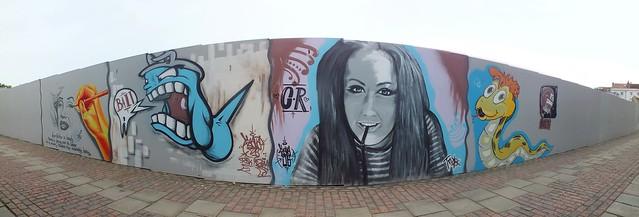Street art and graffiti at Greyfriars, Gloucester