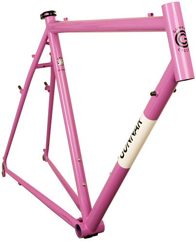 <p>Gunnar CrossHairs in Lilac with White Panel and Bullseye Decals.  One of the most versatile bikes around, the CrossHairs is at home as a road bike, commuter, century bike and light tourer as it is as a competition cyclocross design.</p>