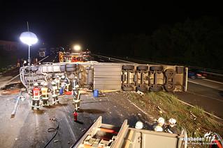 LKW Unfall A3 16.08.2014