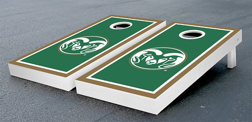 Colorado State University Rams Cornhole Game Set Border Version