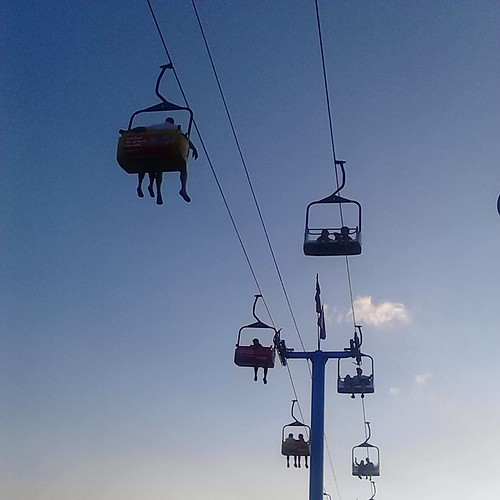 Riding the Skyride at the CNE