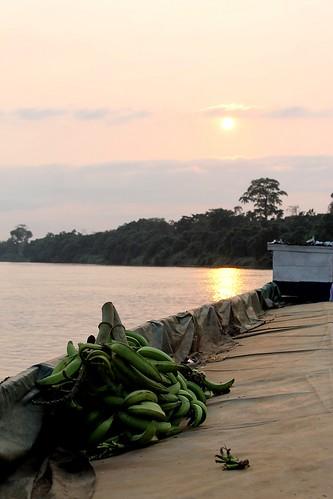 sunset river landscape congo
