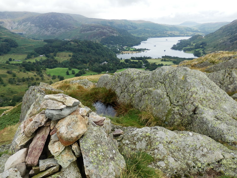 P8134912-Looking down from Arnison Crag to Ullswater